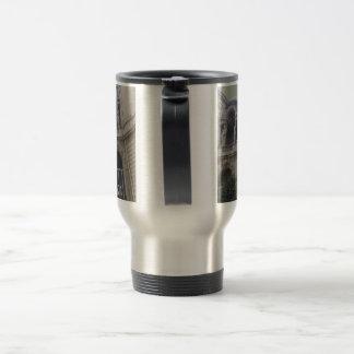 French architecture travel mug