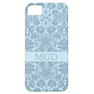 French art nouveau turquoise floral monogram iPhone 5 cover