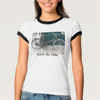 "French bicycle ""Faire du Velo"" T-Shirt"