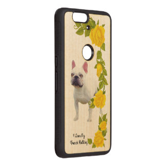 French Bulldog and yellow roses Wood Nexus 6P Case