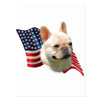 French Bulldog Flag Postcard