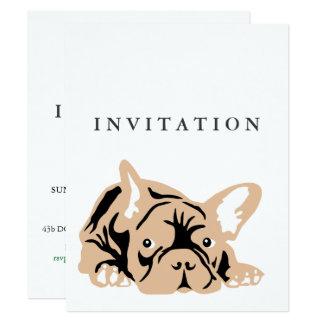 French Bulldog Invitation