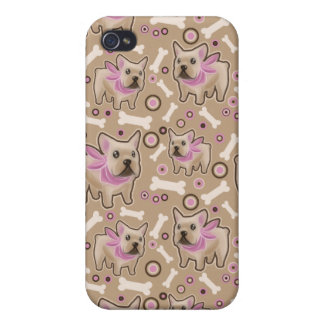 French Bulldog Pattern iPhone 4 Cover