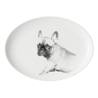 French Bulldog Porcelain Serving Platter