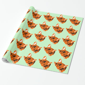 French Bulldog sitting Gift Wrap Paper