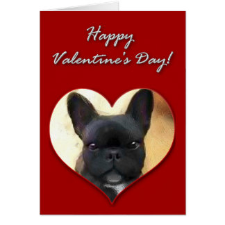 French Bulldog Valentines Day Card