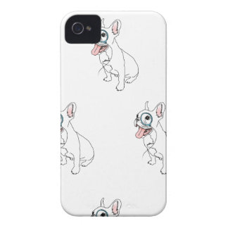 French bulldog with monocle pattern iPhone 4 Case-Mate case