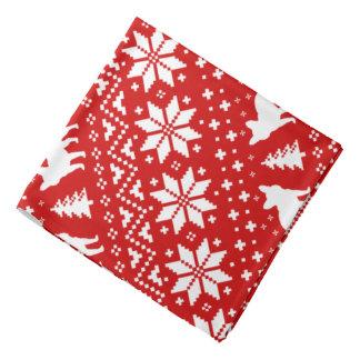 French Bulldogs Christmas Sweater Style Pattern Kerchief
