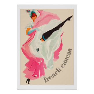 French Cancan (Vintage french ad) Poster