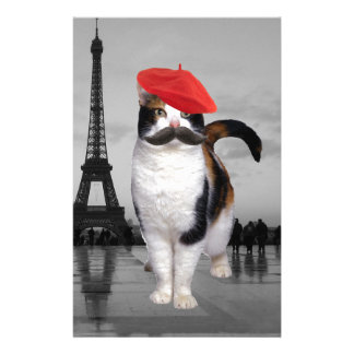 French Cat in Paris Stationery