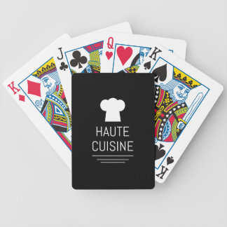 French Chef Haute Cuisine Gourmet Bicycle Playing Cards