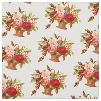 French Country Decor Rose Bouquet Fabric