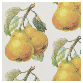 French Country Decor - Vintage Pears Fabric