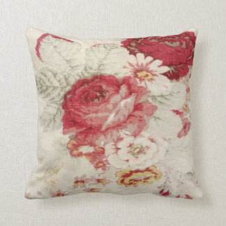 French Country Floral Print MoJo Throw Pillow Cushion