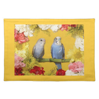 French Country Love Birds Floral Placemats