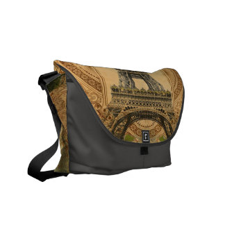 french country modern vintage paris eiffel tower courier bag