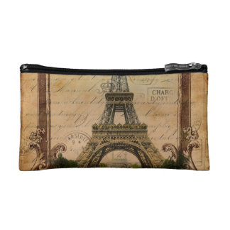 french country modern vintage paris eiffel tower makeup bag