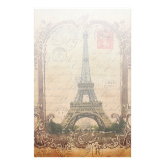 french country modern vintage paris eiffel tower stationery