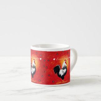 French Country Rooster Expresso Mug 6 Oz Ceramic Espresso Cup