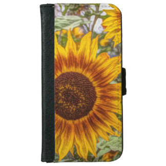 french country summer garden happy sunflower iPhone 6 wallet case