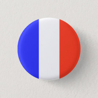 French Flag 3 Cm Round Badge