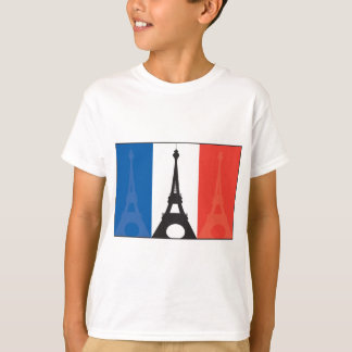 French Flag and Eiffel Tower T-Shirt