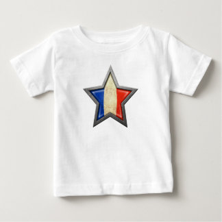 French Flag Star Baby T-Shirt