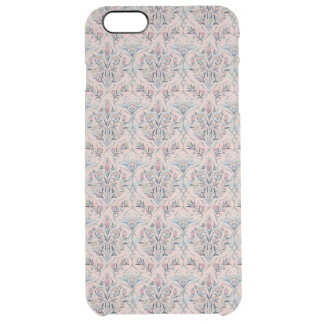 French Floral Wallpaper Clear iPhone 6 Plus Case