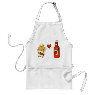 French Fries Love Ketchup Standard Apron