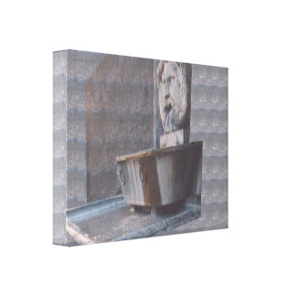 FRENCH Fun Mouth Watering Fountain Vintage sparkle Canvas Print