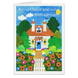 French Good Luck with Your Move Greeting Card