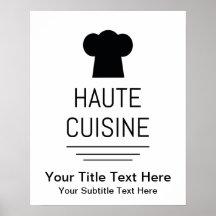 French Gourmet Haute Cuisine Poster