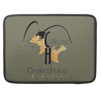 French Grey Army Green Mac Case Cricket House Logo MacBook Pro Sleeves