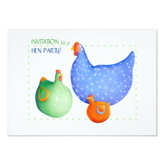 French Hens Hen Party Invitation