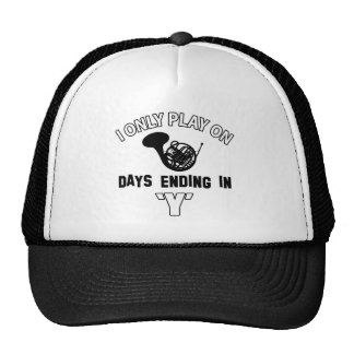 FRENCH HORN DESIGN HATS