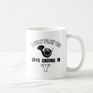FRENCH HORN DESIGN COFFEE MUGS