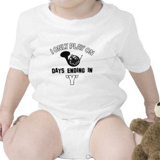 FRENCH HORN DESIGN BABY BODYSUIT