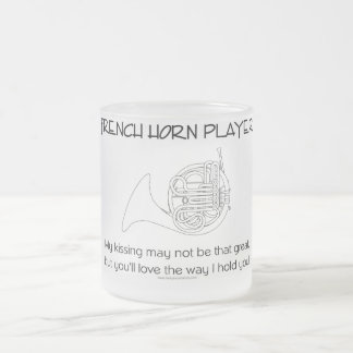 French Horn Humor Frosted Glass Mug