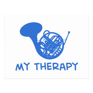 French Horn my therapy Postcard