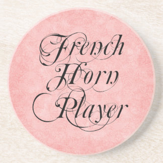 French Horn Player Beverage Coaster