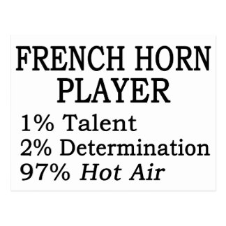French Horn Player Hot Air Postcard