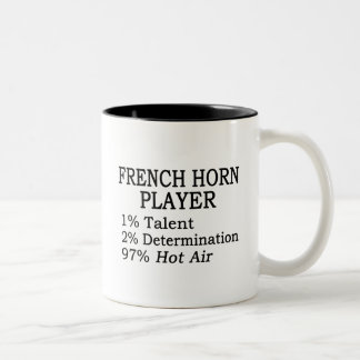 French Horn Player Hot Air Two-Tone Coffee Mug