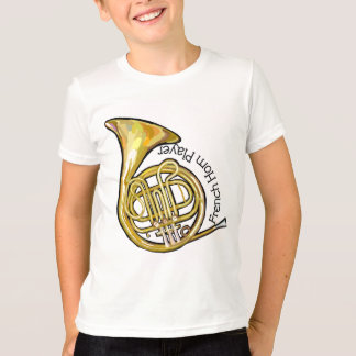 French Horn Player Kids T-Shirt