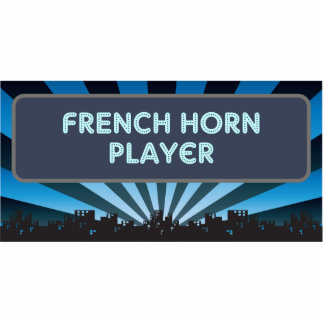 French Horn Player Marquee Photo Sculptures