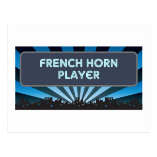 French Horn Player Marquee Post Cards