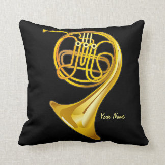 French Horn Player Personalized Music Gift Pillow Cushion