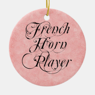 French Horn Player Round Ceramic Decoration