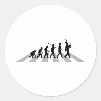 French Horn Player Round Sticker