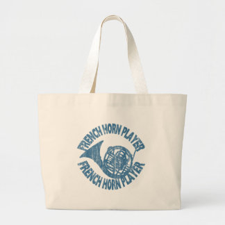 French Horn Player Canvas Bags