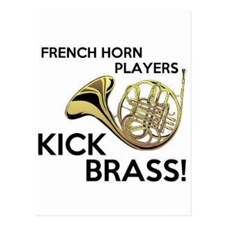 French Horn Players Kick Brass Post Cards